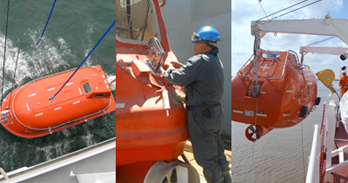 Inspection of Lifeboat & Davit